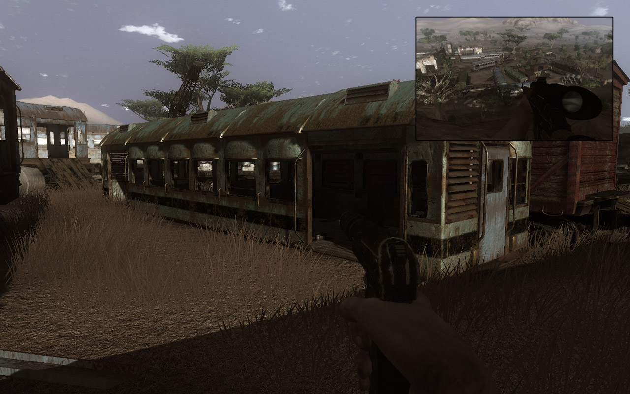 You'll find the box inside this train car (Click image or link to go back)